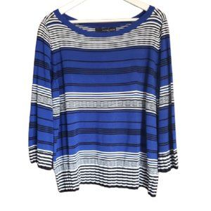 Willow & Thread striped stretch knit top
